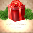 Christmas background vector image — Stock Vector #18269435