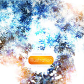 Abstract Winter background.Christma s abstract bokeh. Vector — Stock Vector
