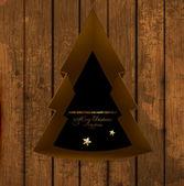 Vánoční stromeček otvor v pozadí — Stock vektor