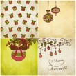 Royalty-Free Stock Vector Image: Set of Christmas Cards