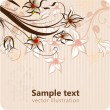 Stock Vector: Stylish floral background