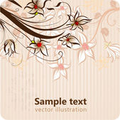 Stylish floral background — Stock Vector