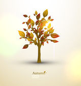 Autumn tree — Stockvektor