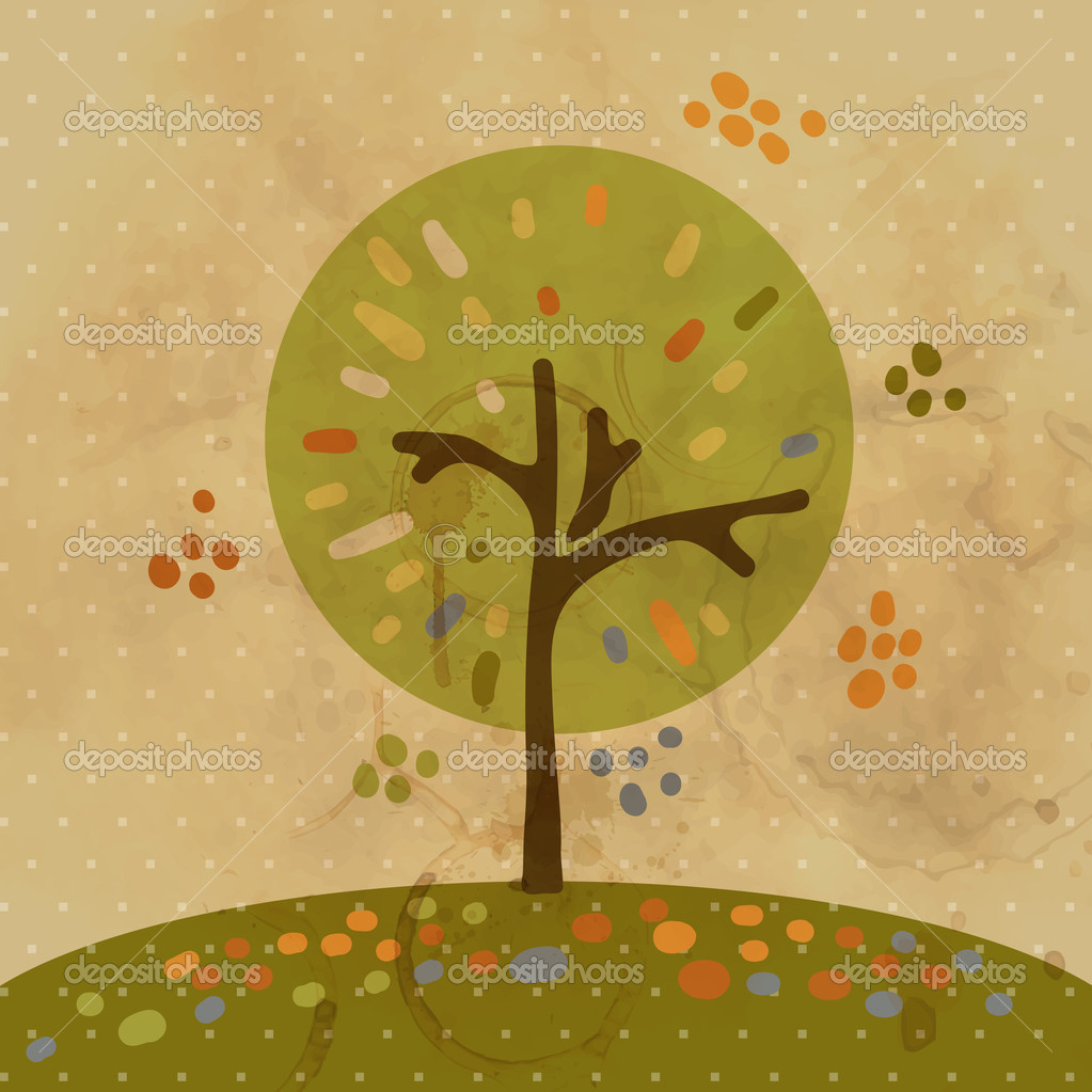 Autumn tree  Stock Vector #18306943