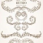 Vintage floral frame. Element for design. — Stock Vector #18316849