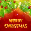 Christmas background with dragon, Santa Claus, Snowman, gifts and Christmas balls for Holiday design — ベクター素材ストック