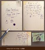 Tarjeta de navidad vintage. letras de dibujado a mano de feliz navidad — Vector de stock