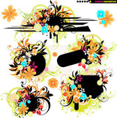 Abstract summer elements for design. — Stock Vector