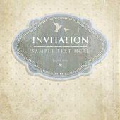 Vintage card design for greeting card, invitation, menu — Stock Vector
