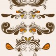 Royalty-Free Stock Vector Image: Abstract elements for design. Retro floral ornament for background.