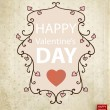 Vector floral frame with hearts for Valentines day design — Vettoriali Stock