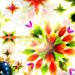 Royalty-Free Stock Imagen vectorial: Autumn leaves. Seasonal vector abstract background