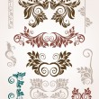 Abstract elements for design. Retro floral ornament for background. - Stock Vector