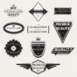 Set of Premium Quality and Guarantee Labels with retro vintage styled design, vector — Stock Vector #18461889
