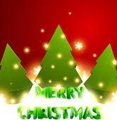 Christmas tree set. Vector illustration. — Stock Vector