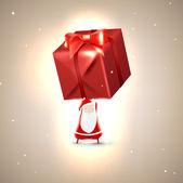 Санта-Клаус с красной подарок. Векторные иллюстрации для рождественской открытки — Cтоковый вектор