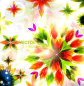 Autumn leaves. Seasonal vector abstract background — Stock Vector