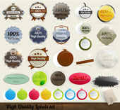 30 Premium and High Quality Labels and frames set. With old paper texture. — Stock Vector