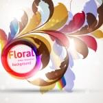 Einladung Grußkarte mit floral Ornament mit Blüten für retro-design — Stockvektor