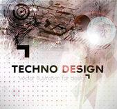 Abstract Techno Vector Background. — Stock Vector