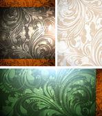 Bezszwowe tapeta dla retro tło wektor — Wektor stockowy