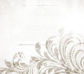 Empty storefront with floral seamless background. — Vetorial Stock