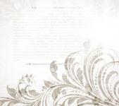 Leere schaufenster mit floral nahtlose hintergrund. — Stockvektor