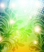 Primavera brillante colorida abstracta o fondo floral verano con flores para el diseño. — Vector de stock