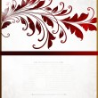 Royalty-Free Stock Vector: Vintage floral border with leafs