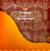 Vintage design template — Stock Vector