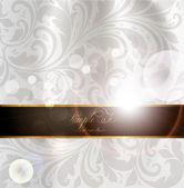 Seamless summer bright flower wallpaper, vector background, Silk. White — Stock Vector