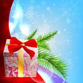 Kerst vector achtergrondafbeelding — Stockvector