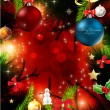 Merry Christmas Elegant Suggestive Background for Greetings Card - Векторная иллюстрация