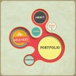 Vintage Web design template. Eps 10 vector Illustration. Old paper texture, retro style. — Stock Vector #19944773
