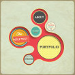 Vintage Web design template. Eps 10 vector Illustration. Old paper texture, retro style. — Stock Vector