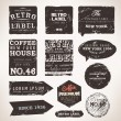 Vintage Styled Premium Quality and Satisfaction Guarantee Label collection with black grungy design, paper texture. — Stock Vector #19944813