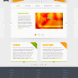 Vector Website Design Template - Image vectorielle