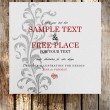 Invitation vintage design with flower ornament — Stockvectorbeeld