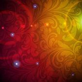 Naadloze violet damast behang — Stockvector