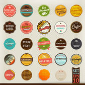 Premium and High Quality retro Labels collection Vintage design Big set — Stock Vector
