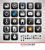 Glow Icon Set for Web Applications - Vector — Stock Vector