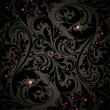 Stock vektor: Seamless Damask wallpaper