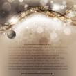 Elegant christmas background with baubles — 图库矢量图片