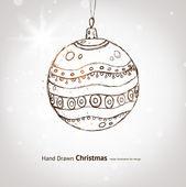 Christmas hand drawn fur tree for xmas design. With balls. — Stock Vector