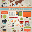 Set elements of infographics for design — Stock Vector