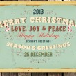 Vintage Christmas Card and grunge background for Xmas invitation design, eps10 illustration, Wood background - Stok Vektör