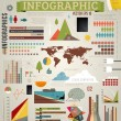 Set elements of infographics for design, eps 10 vector illustration — Stock Vector