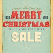Royalty-Free Stock Vector Image: Vintage Christmas Sale Card and grunge background for Xmas invitation design, eps10 illustration