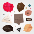 Labels vector set, modern style. Abstract futuristic design bubbles collection, vector. — Stock Vector