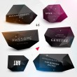 Labels vector set, modern style. Abstract black design bubbles collection, vector. — Stock Vector